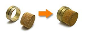 焼結金属の同時焼結による接合