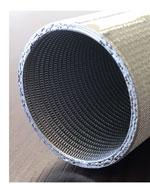 磁性金網を使用した焼結金網の円筒加工