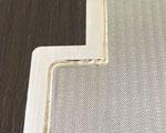 焼結金網とフランジの複雑形状溶接