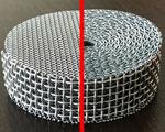 金網を成形し焼結処理した焼結金網
