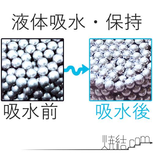 液体(水道水)を吸収した焼結金属(多孔質金属)